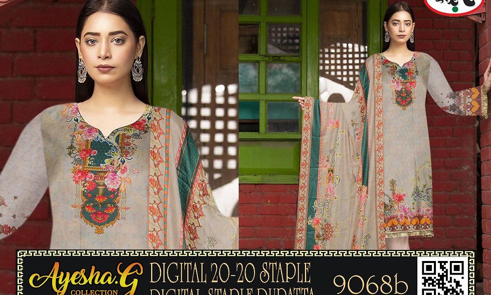 Ayesha G Marina Print Gala D9068 8 suit 1 box