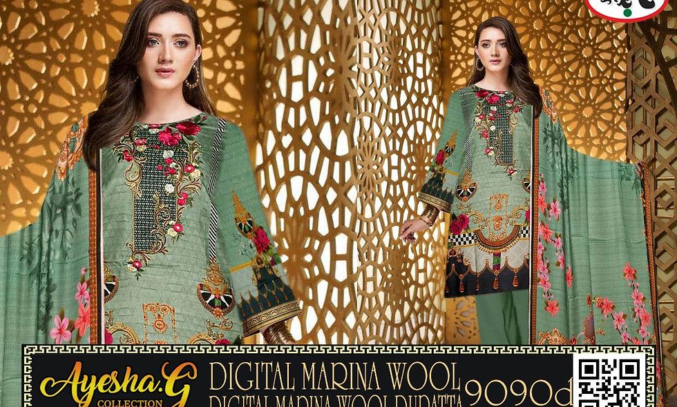Digital Marina Wool Digital Marina Wool Dupatta 10 suits 1 box