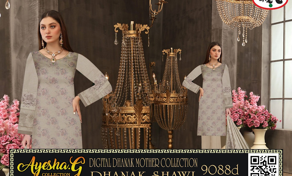 Digital Dhanak Mother Collection With Dhanak Shawl 5 suits 1 box