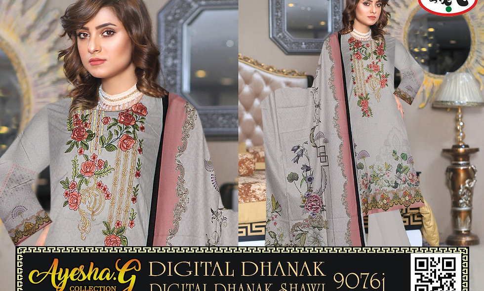 Digital Dhanak Digital Dhanak Shawl 5 suits 1 box