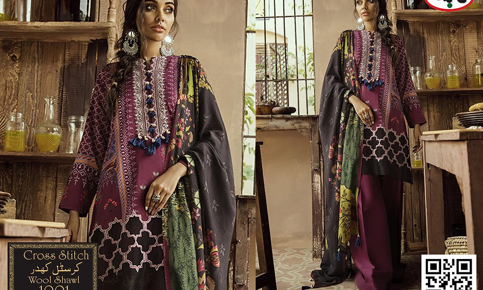 Crystal kaddar with Wool Shawl