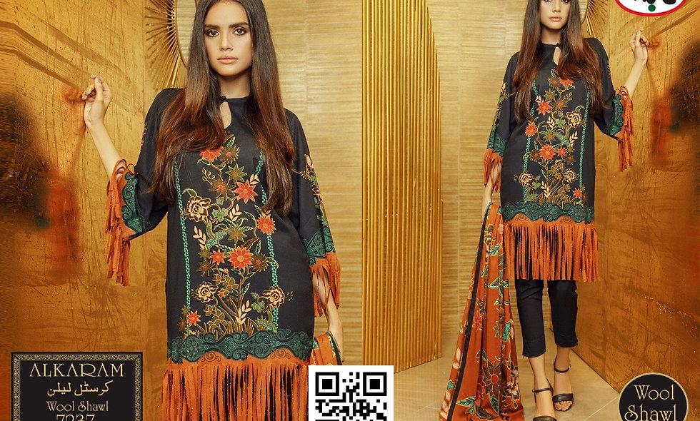 Crystal Linen Wool Shawl