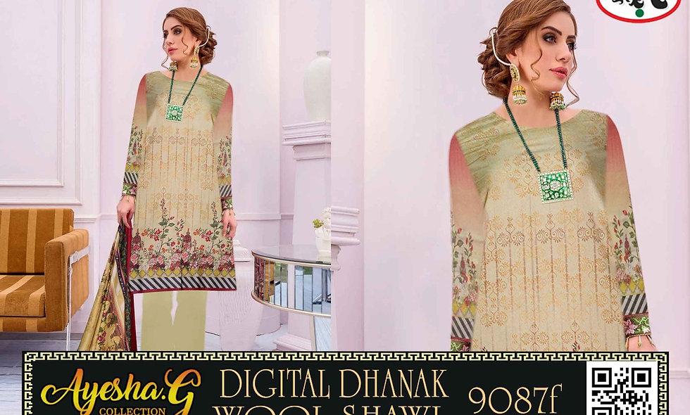 Digital Dhanak Wool Shawl  6 suits 1 box
