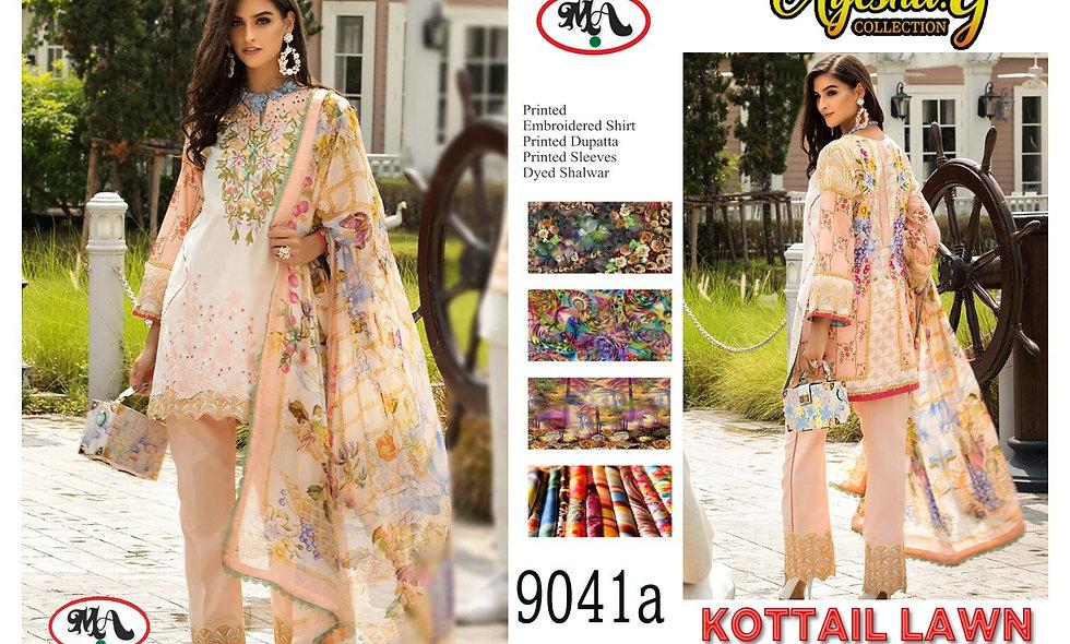 Kottail Lawn Chiffon Dupatta 8 suits 1 box
