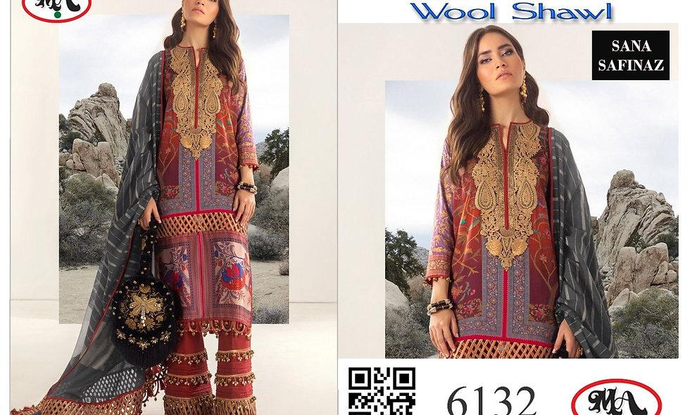 Classic Linen Wool Shawl