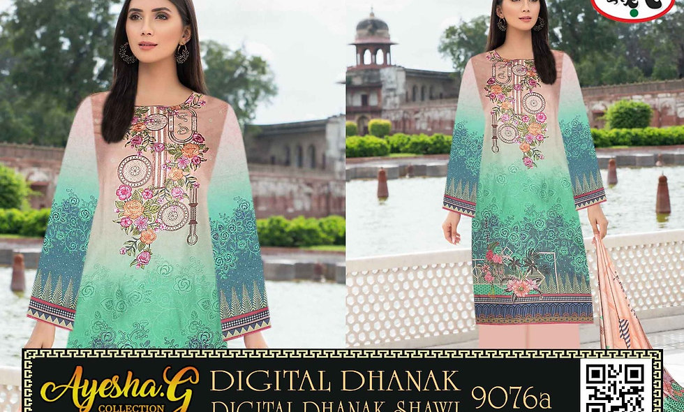 Digital Dhanak Digital Dhanak Shawl 10 suits 1 box