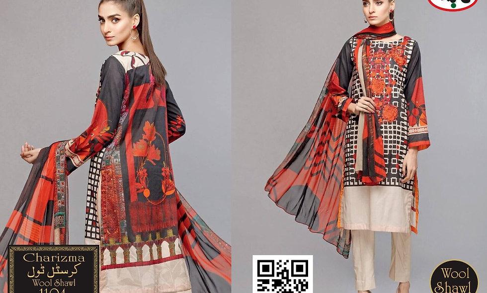 Crystal twill With Wool shawl