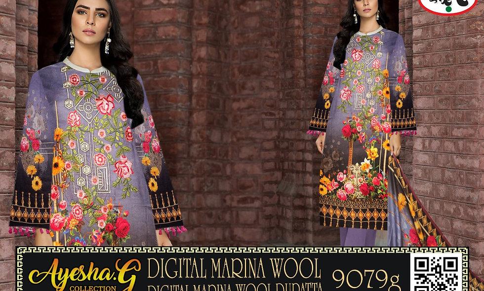 Digital Marina Wool Digital Marina Wool Dupatta 5 suits 1 box