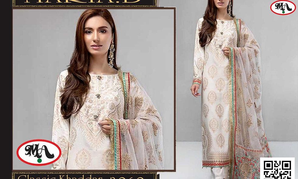 Classic Khaddar Wool Shawl Print Trouser