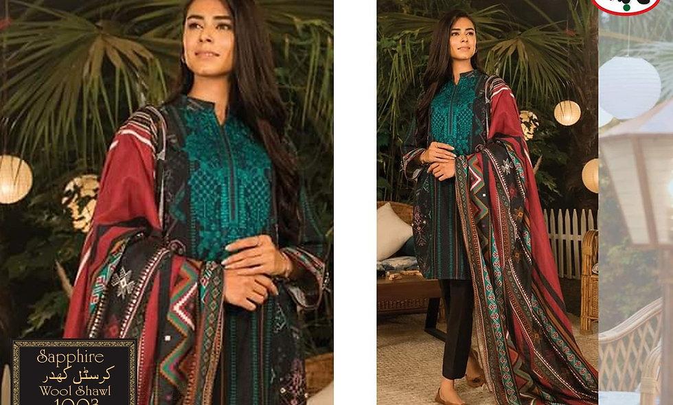 Crystal Khaddar WIth Wool Shawl