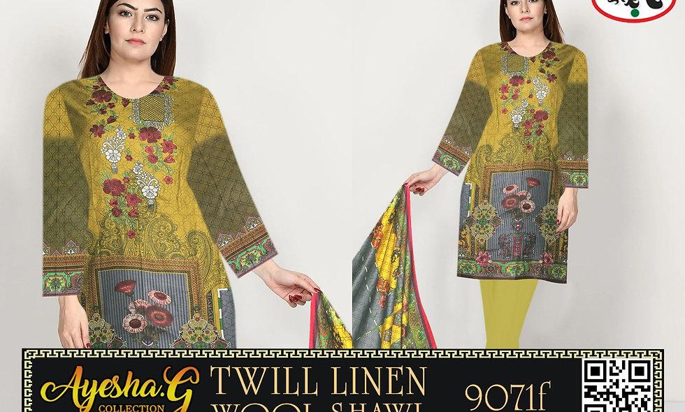 twil linen Wool Shawl 6 suits 1box