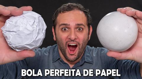 Como fazer uma bola de papel
