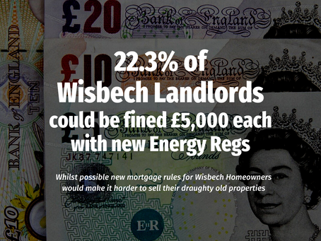 22.3% of Wisbech Landlords Could be Fined £5,000 each with New Energy Regs