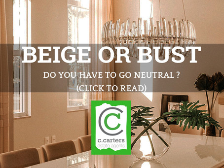 BEIGE OR BUST- Do you have to go neutral?
