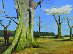 Staggered - Oil Painting 80x110cm Susan Bunn Artist -