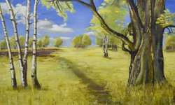 Wimbledon Oak 60cm x 100 cm Susan Bunn