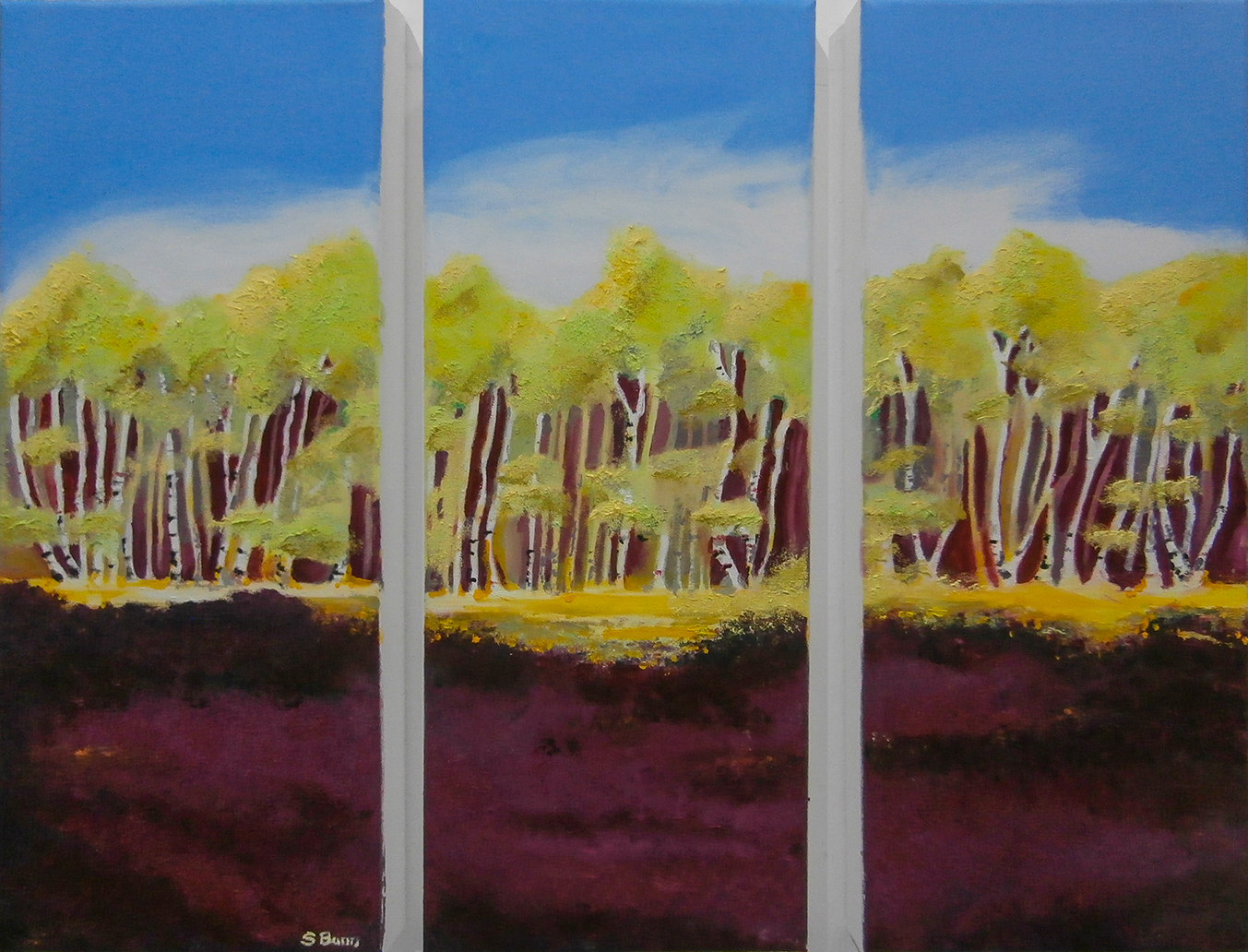 Silver Birch light & shade 3 parts