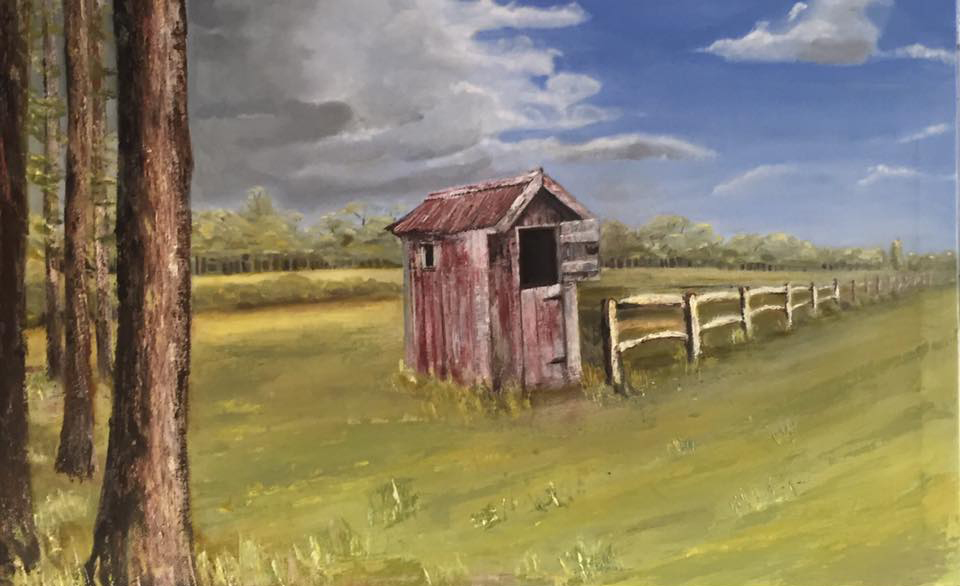 RED SHED 2 - Oil-100x60cm