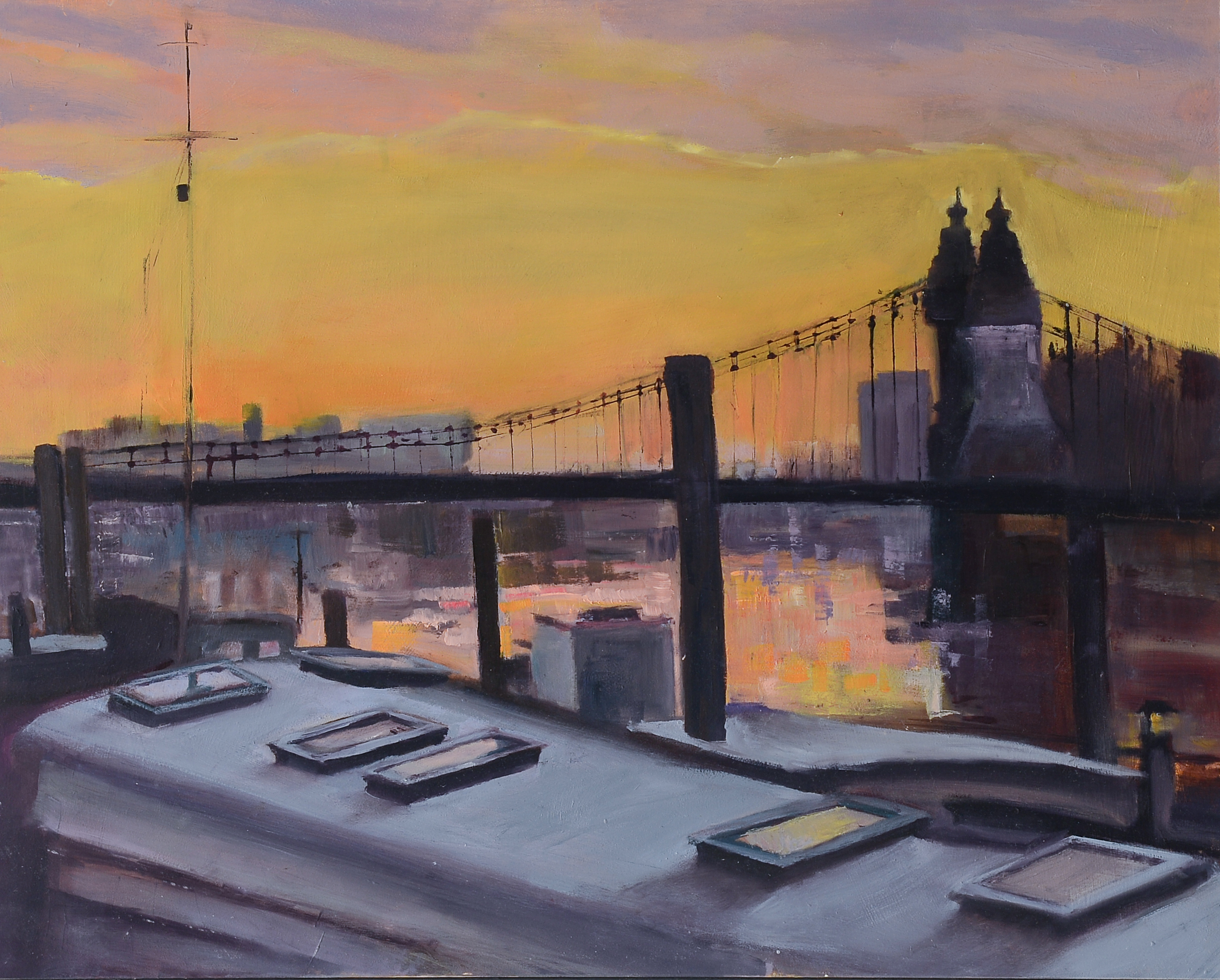 Hammersmith Bridge Oil on board 41