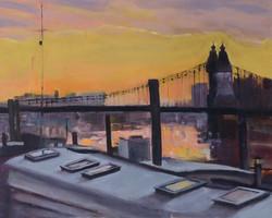 Hammersmith Bridge Oil on board 41
