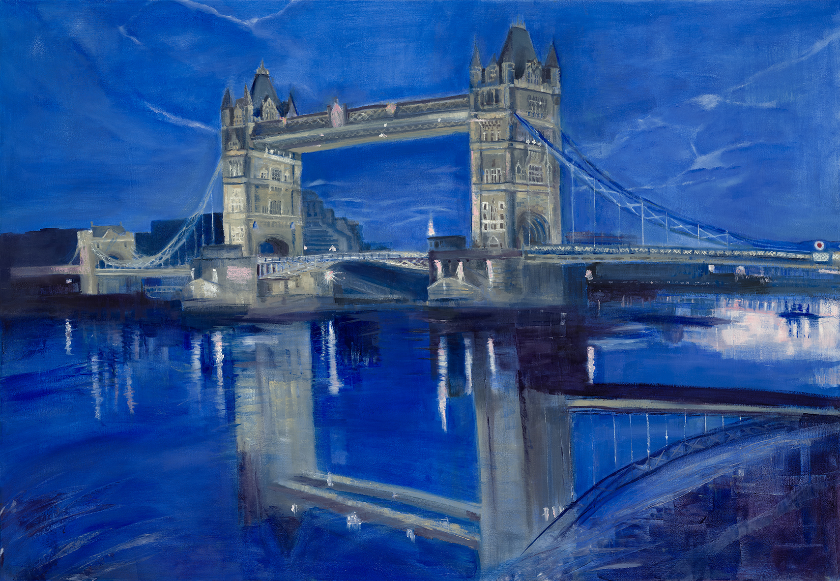 tower bridge oil 130x90 cm susanbunn