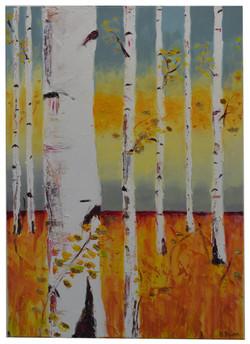 SHINE - Acrylic & Gold Leaf on Canvas 59x44cm A4v