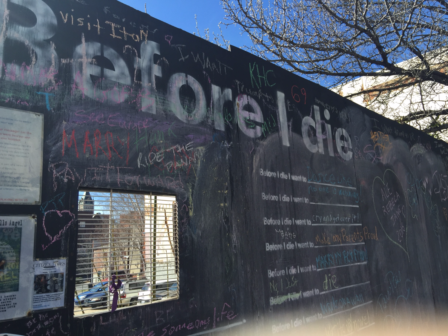 Before I Die Wall...