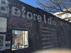 Before I Die Wall...
