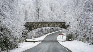 Blue Ridge Parkway in Winter