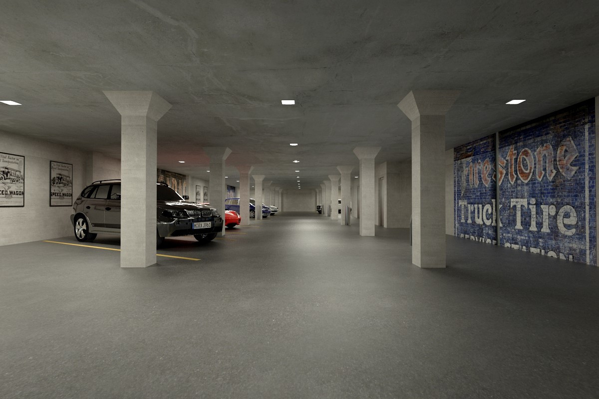 Secure Parking Garage