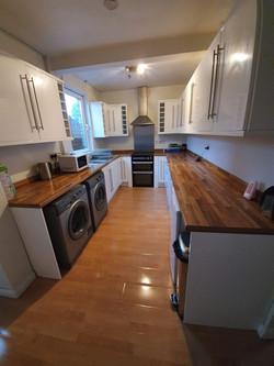 Kitchen area after GForce