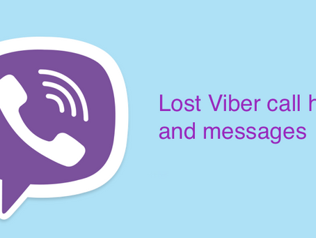 How to recover the delete Viber calls and messages?