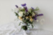 Wild Sapphire wedding bouquet