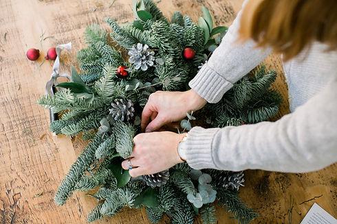 Christmas wreath making kit