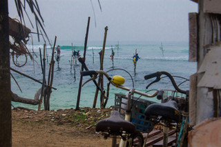 Stilt fishermen in Ahangama © Katharina