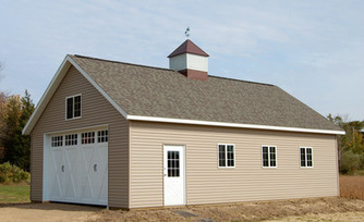 custom post frame garage built by pole-barns.com