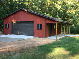 garage constructed by pole-barns.com