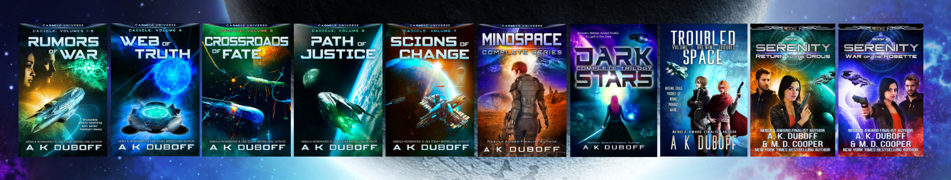 Selection of books by A.K. DuBoff