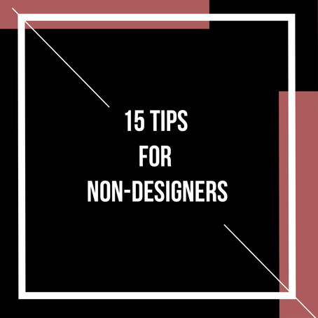 15 Tips for non-designers