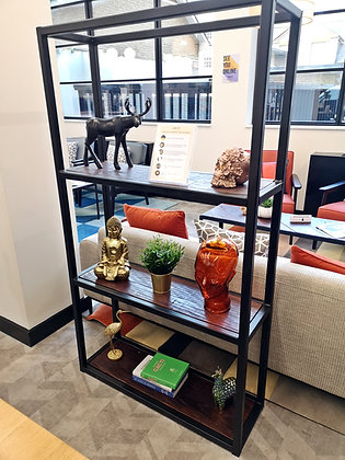 Cubo Industrial Character Oak Bookshelf Unit