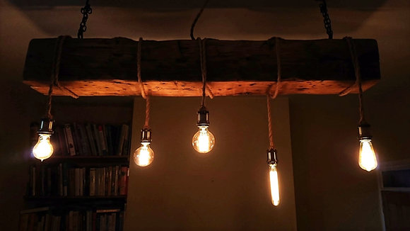 Reclaimed Industrial Beam Rope Light