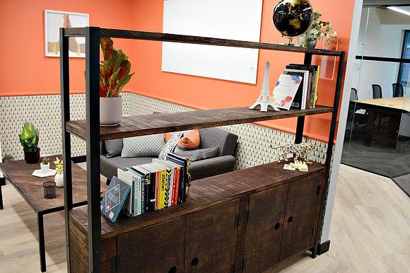 Classica Industrial Character Oak Bookcase