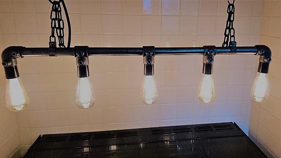 Industrial Steel Pipe Light Chandelier