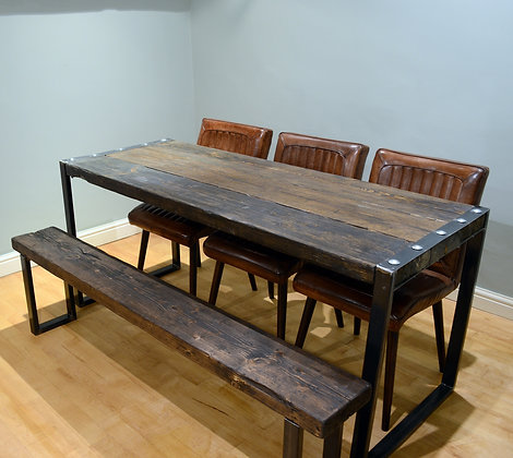 Forte Industrial Reclaimed Wood Dining Table