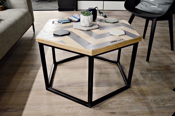 Favo Character Oak Parquet Coffee Table