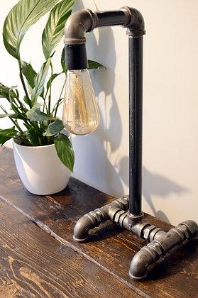 Industrial Steel Pipe Table Lamp