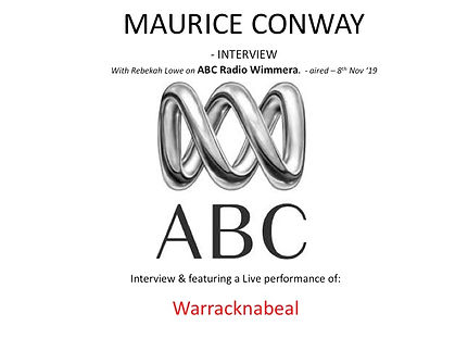 Maurice Conway ABC Radio interview with Rebekah Lowe