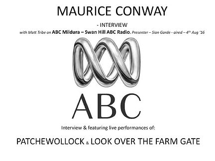 Maurice Conway ABC Radio interview with Matt Tribe