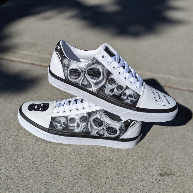 Custom Skull themed Vans