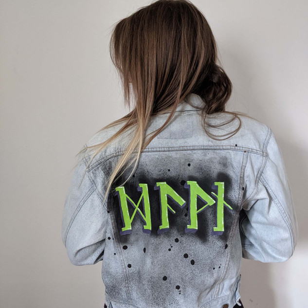 """Dawn"" in runes jacket"